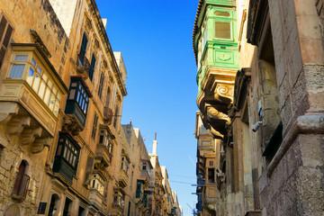 Traditional streets in Valletta, Malta