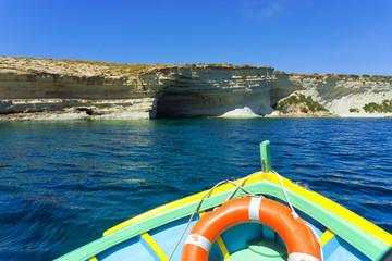 View in the Xrobb L-Ghagin Nature Park in Marsaxlokk, Malta