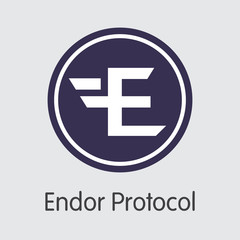 EDR - Endor Protocol. The Logo of Coin or Market Emblem.