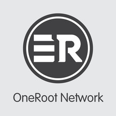 RNT - Oneroot Network. The Icon of Money or Market Emblem.