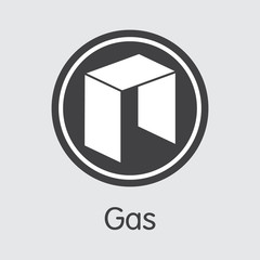 GAS - Gas. The Market Logo of Money or Market Emblem.