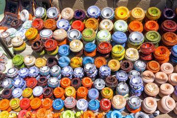 Traditional ashtrays in Djerba, Tunisia