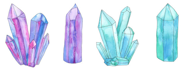 Watercolor crystal set 3