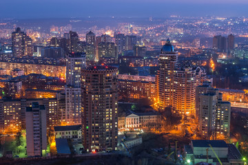 Fototapete - Night in Kiev