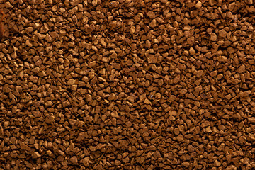 high quality texture of granulated instant coffee