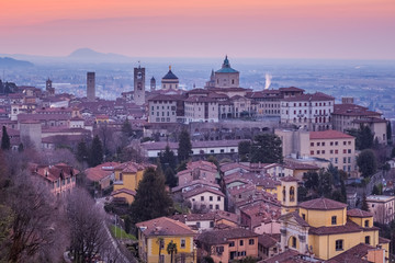 Bergamo historical Old Town, Lombardy, Italy