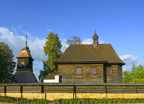 Veliny - Wooden church of Saint Nicholas existed already in 14th century, its current baroque style is from year 1752. Veliny is a village in the Pardubice Region of the Czech Republic