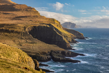 Mykines Coastline Faroe Islands