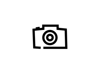 Photographe an old style camera logo design
