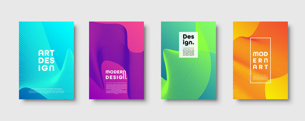 Modern minimal colorful abstract vector background, lines and geometric shapes design. Neon UFO green,proton purple,plastic pink halftone gradient color.