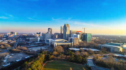 Downtown Raleigh, North Carolina, USA Skyline Aerial