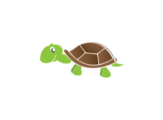 Happy baby turtle smile for logo design