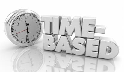 Time Based Clock Timing Word 3d Illustration