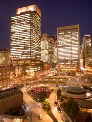 Fototapete - 東京駅丸の内口の高層ビル街