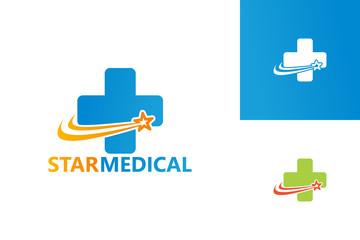 Star Medical Logo Template Design Vector, Emblem, Design Concept, Creative Symbol, Icon
