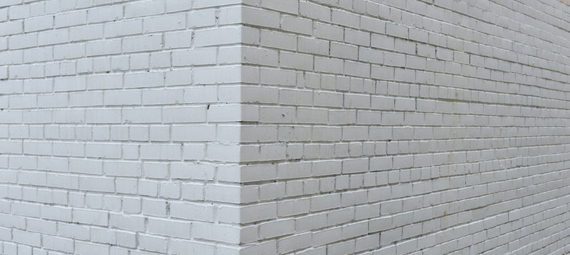 House corner, brick wall