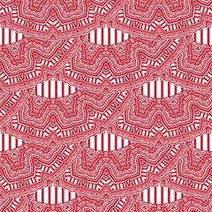 African magic geometric folklore ornament. Tribal ethnic vector seamless texture.