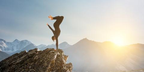Extreme yoga practice. Mixed media