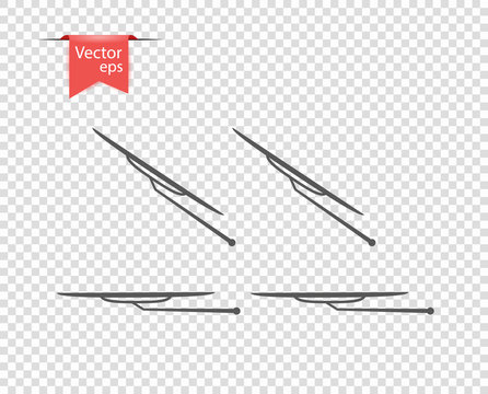 Windshield wiper in inclement weather. vector illustration, design elements on isolated transparent background.