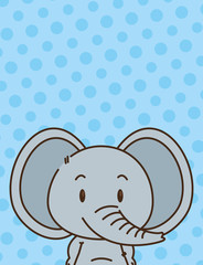 cute little elephant character
