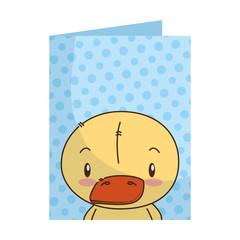 cute little duck character