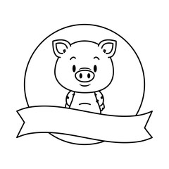 cute little pig character