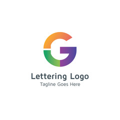 Lettering G Vector