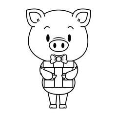 cute little pig character