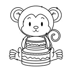 cute little monkey character