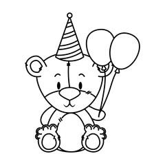 cute little bear character