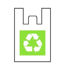 リサイクルマークの描かれたレジ袋