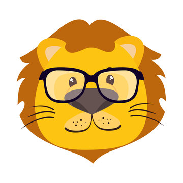 cute little lion character