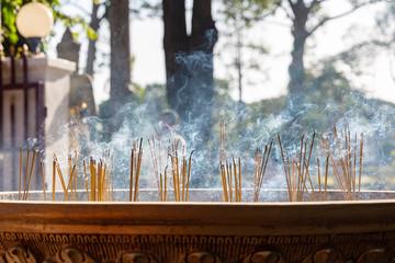 incense burner in the shrine of Preah Ang Chek Preah Ang Chorm, Siem Reap, Cambodia, Asia