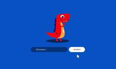 Dinosaur written on a browser search bar
