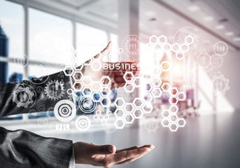 Modern technologies for successful business concept.