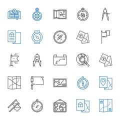 north icons set