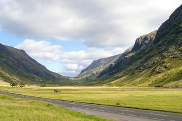 Road through Glen Coe, Scotland
