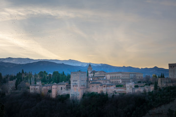 Granada. The fortress and arabic palace complex of Alhambra, Spain