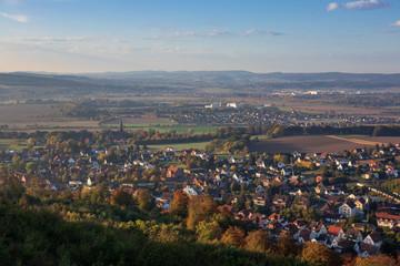 Landscape of Low Saxony in village Steinbergen , Germany