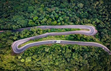Aerial road photo