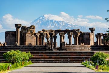 Ruins of the Zvartnos temple in Yerevan, Armenia Wall mural