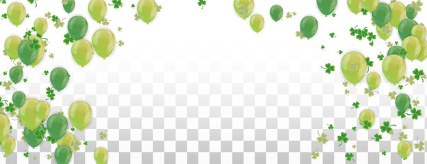 Shamrock and balloons green vector Illustration of a St. Patrick's Day Background