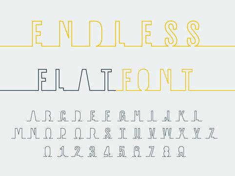 Endless font