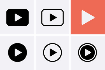 Video camera Icon set, Play Vector.