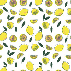 Lemon Juice Illustrated pattern