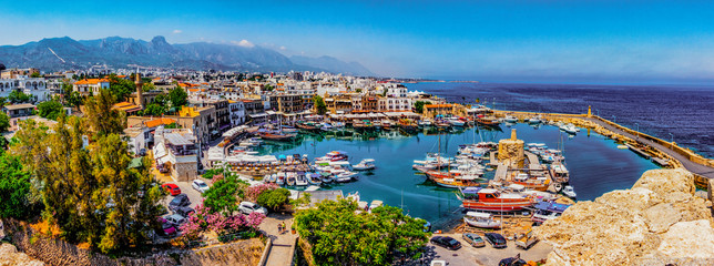 Acrylic Prints Northern Europe Kyrenia marina in Cyprus