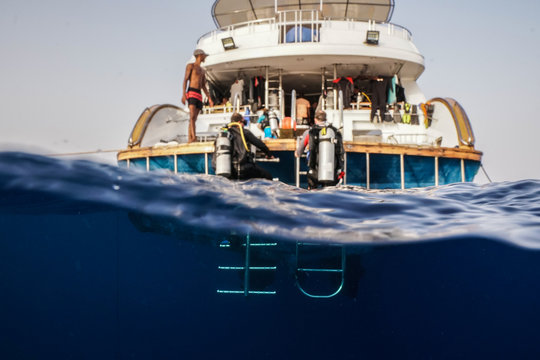 liveaboard boat at the Red Sea, Egypt