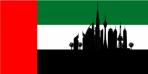 Flag of Dubai, United Arab Emirates