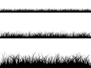 Seamless grass silhouette