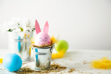 Cute and funny easter background
